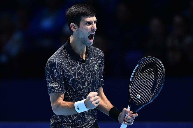Novakas Djokovičius prieš Johną Isnerį | Scanpix nuotr.
