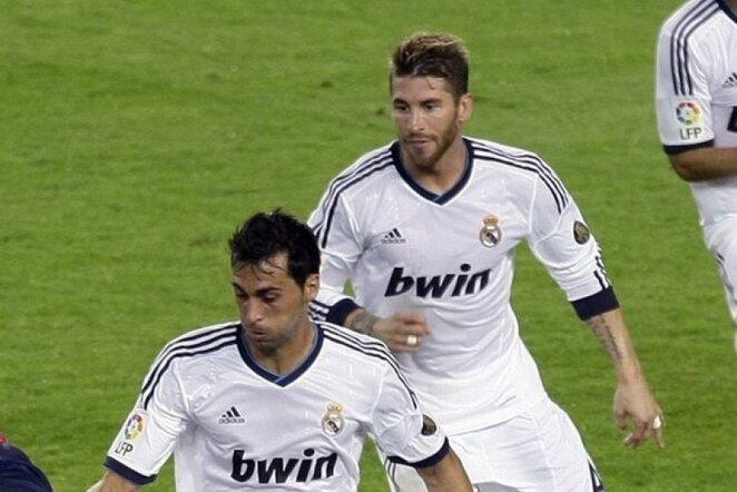 Alvaro Arbeloa ir Sergio Ramosas | Reuters/Scanpix nuotr.