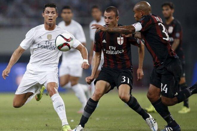 Cristiano Ronaldo (kair.) žaidė iki 71-os minutės | Reuters/Scanpix nuotr.