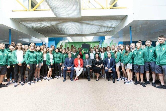 Jaunieji sportininkai išlydėti į Europos jaunimo olimpinį festivalį | Vytauto Dranginio nuotr.