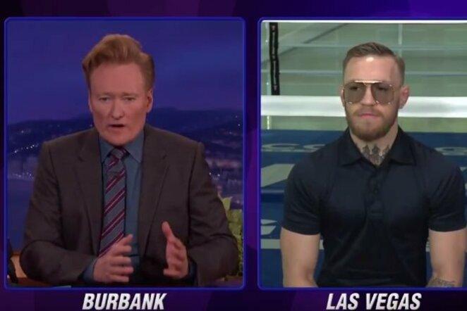 Conoras McGregoras kalbėjosi su Conanu O'Brienu   Organizatorių nuotr.