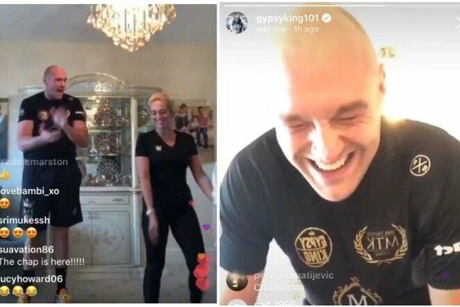 Tysono Fury treniruotė | Instagram.com nuotr