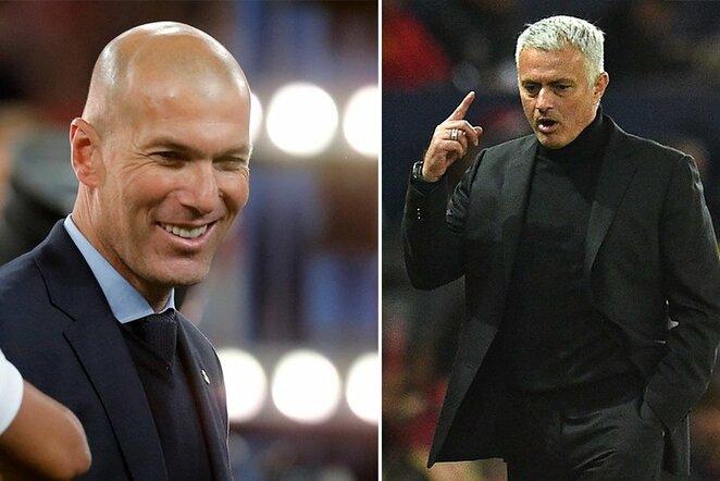 Z.Zidane'as ir J.Mourinho   Scanpix nuotr.