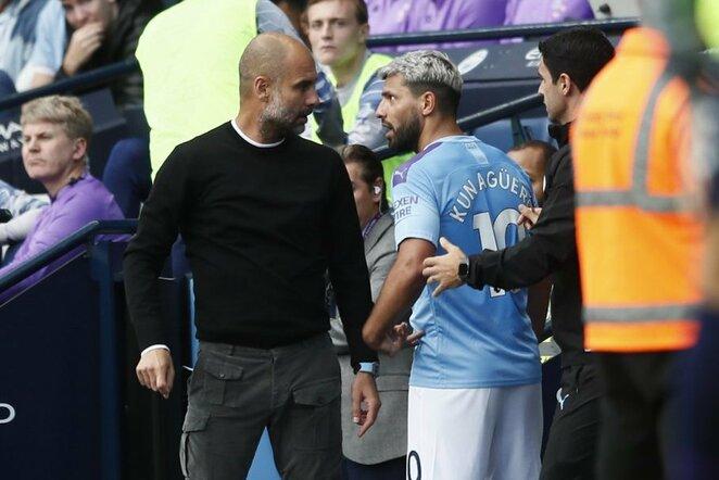 Pepas Guardiola ir Sergio Aguero | Scanpix nuotr.