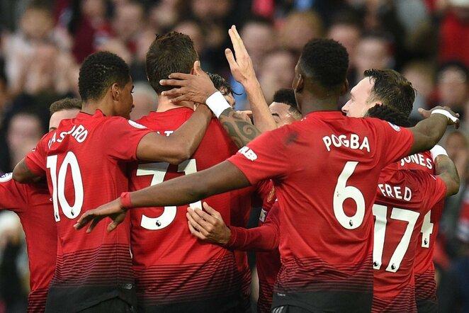 """Manchester United"" – ""Huddersfield Town"" rungtynių akimirka    Scanpix nuotr."