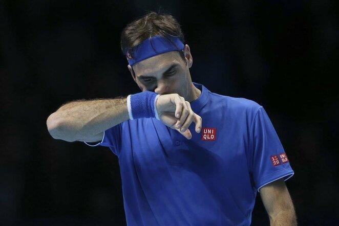 Kei Nishikori prieš Rogerį Federerį | Scanpix nuotr.