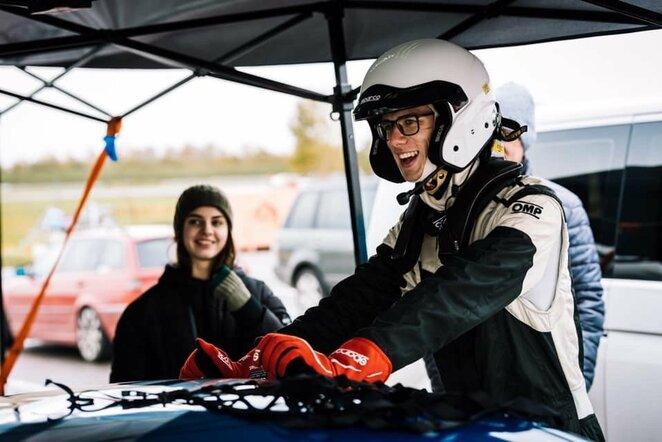Virtualių BaTCC lenktynių nugalėtojas K.Jovaiša ruošiasi lenktynėms Estijoje | asmeninio archyvo nuotr.