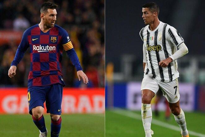 Lionelis Messi ir Cristiano Ronaldo | Scanpix nuotr.