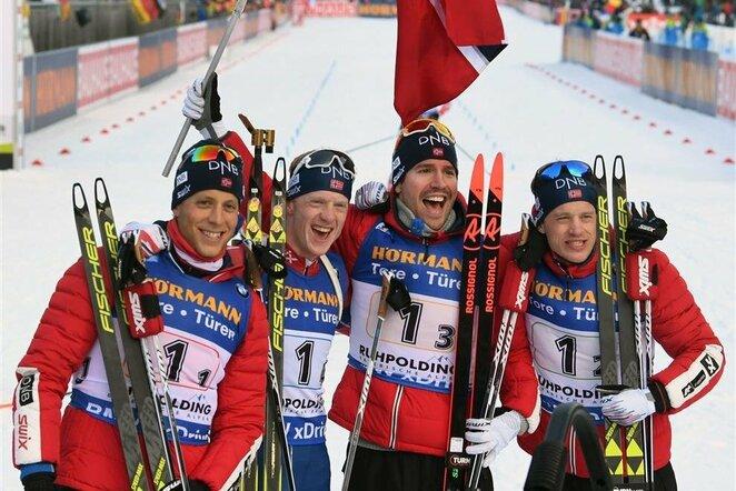 Vyrų 4x7,5 km estafetės lenktynės | Scanpix nuotr.