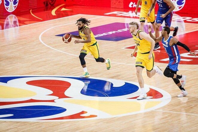 Australijos – Dominikos Respublikos rungtynių akimirka | FIBA nuotr.
