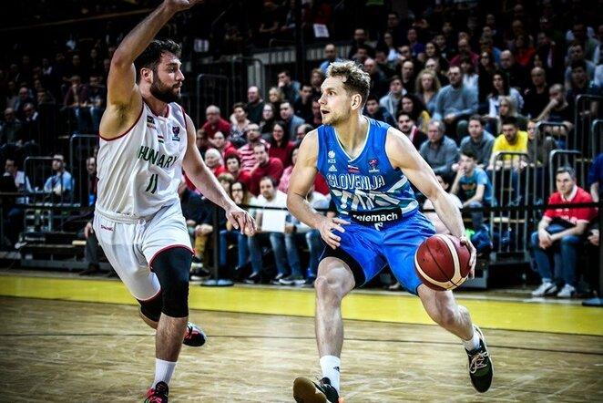 Vengrijos ir Slovėnijos rungtynių akimirka | FIBA nuotr.