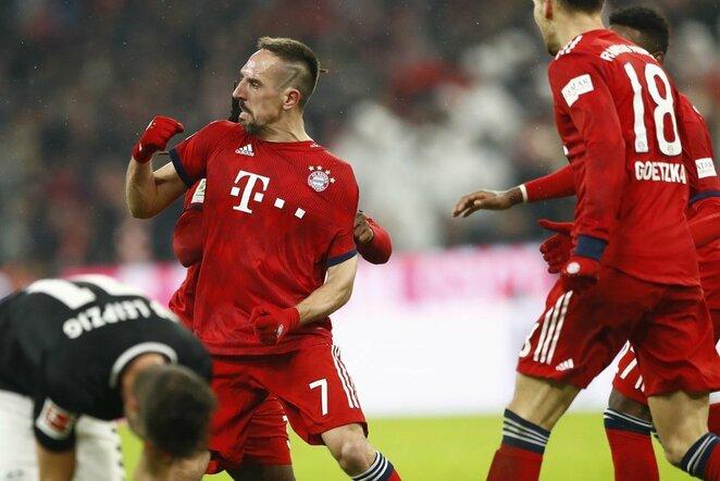 """Bayern"" – ""RB Leipzig"" rugntynių akimirka  | Scanpix nuotr."