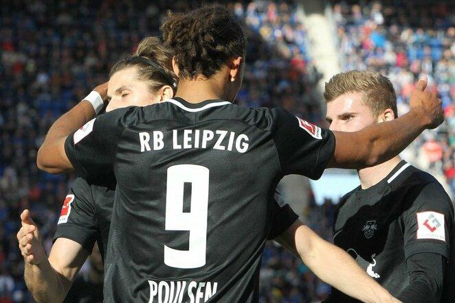 """Hoffenheim"" – ""RB Leipzig"" rungtynių akimirka  | Scanpix nuotr."