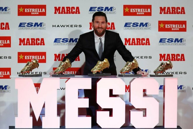 Lionelis Messi atsiėmė rekordinį penktą auksinį batelį | Scanpix nuotr.
