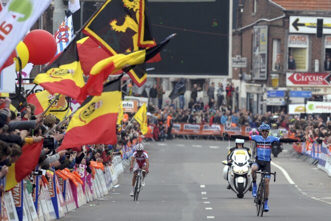 """Liege-Bastogne-Liege"" lenktynių finišas | REUTERS/Scanpix nuotr."