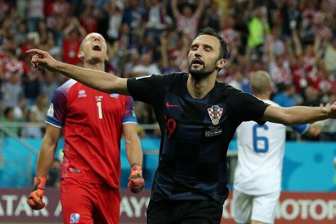 Pasaulio čempionatas: Islandija - Kroatija (2018.06.26) | Scanpix nuotr.