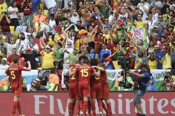 Belgijos rinktinės džiaugsmas | AFP/Scanpix nuotr.