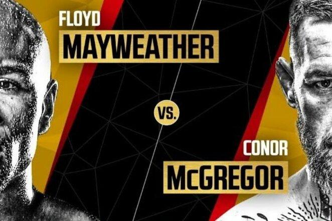 Floydas Mayweatheris ir Conoras McGregoras | Organizatorių nuotr.