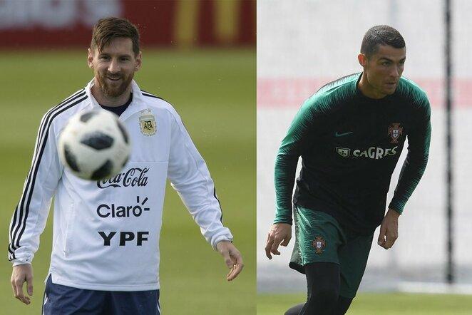 Lionelis Messi ir Cristiano Ronaldo   Scanpix nuotr.