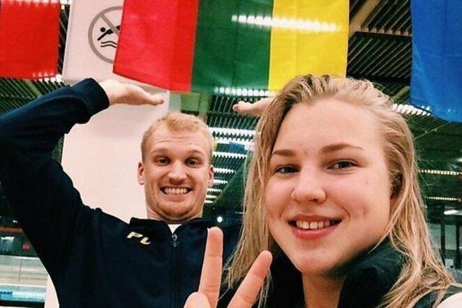 Rūta Meilutytė ir Mindaugas Sadauskas | Organizatorių nuotr.