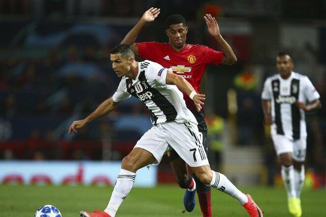 Cristiano Ronaldo ir Marcusas Rashfordas | Scanpix nuotr.