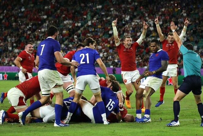 Prancūzijos ir Velso rinktinių rungtynės   Scanpix nuotr.