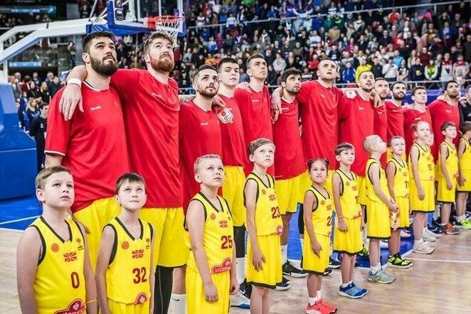 Š.Makedonijos rinktinė   FIBA nuotr.