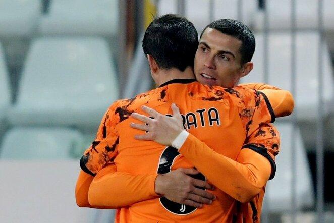 Alvaro Morata ir Cristiano Ronaldo | Scanpix nuotr.