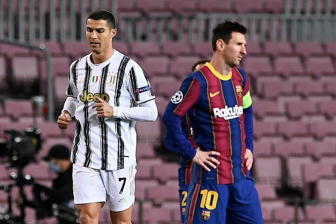 Cristiano Ronaldo ir Lionelis Messi   Scanpix nuotr.