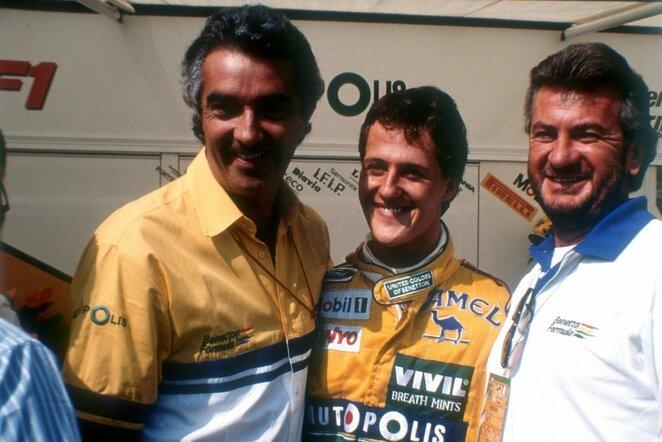 Flavio Briatore ir Michaelis Schumacheris | Scanpix nuotr.