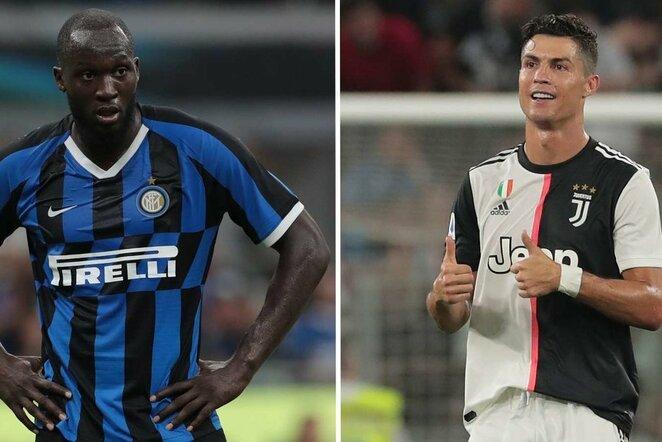 Romelu Lukaku ir Cristiano Ronaldo | Organizatorių nuotr.