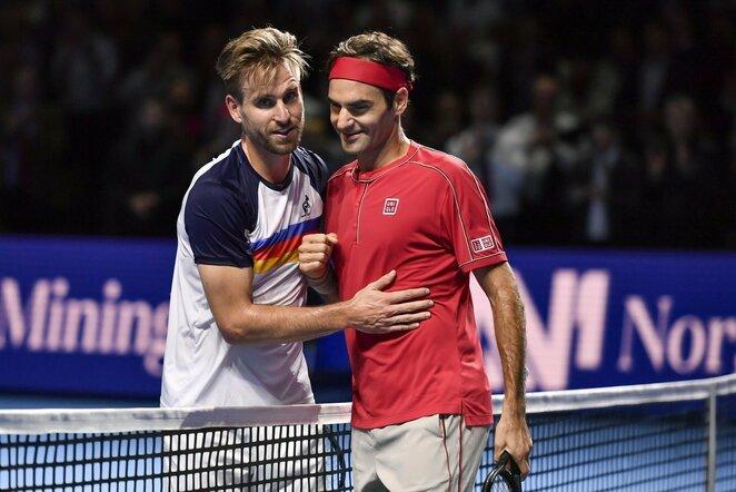 Peteris Gojowczykas ir Rogeris Federeris | Scanpix nuotr.