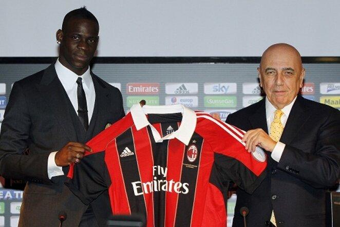 Mario Balotelli ir Adriano Galliani   Reuters/Scanpix nuotr.