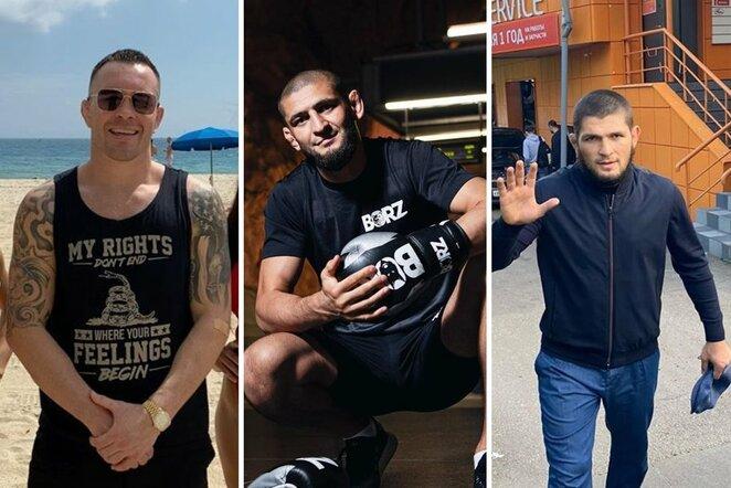 Colby Covingtonas, Chamzatas Čimajevas ir Chabibas Nurmagomedovas | Instagram.com nuotr