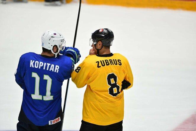 Anže Kopitaras ir Dainius Zubrus | Marat Akimzhanov nuotr.