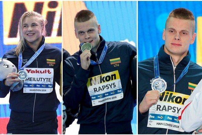 Lietuviai su pasaulio čempionato medaliais | Scanpix nuotr.
