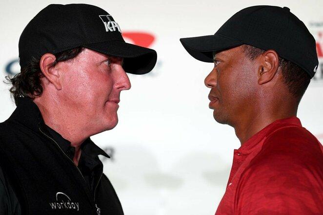 Philas Mickelsonas ir Tigeris Woodsas | Scanpix nuotr.