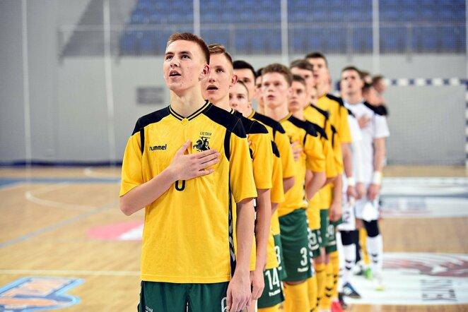 Lietuvos U-19 vaikinų futsal rinktinė   Arvido Šimulio nuotr.