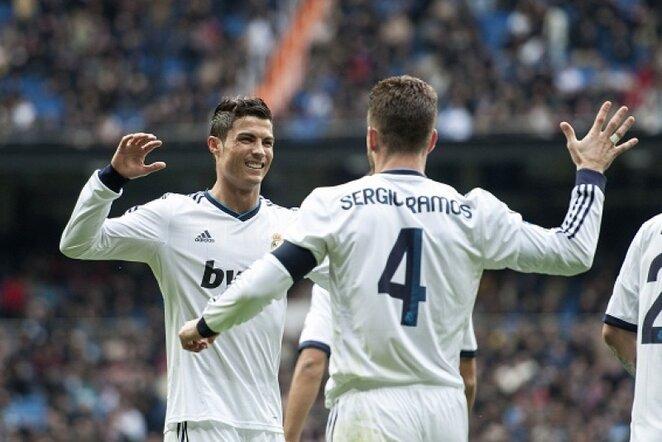 Cristiano Ronaldo ir Sergio Ramosas | AFP/Scanpix nuotr.