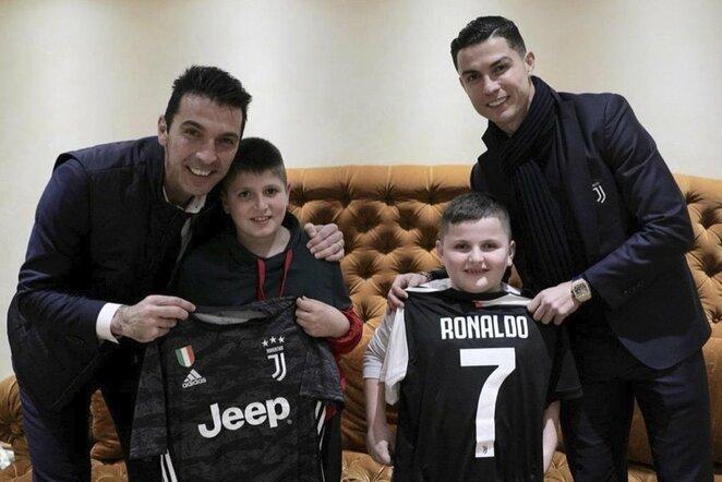 Gianluigi Buffonas ir Cristiano Ronaldo  | Scanpix nuotr.