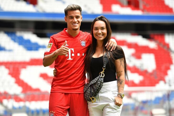 Philippe Coutinho ir Aine Coutinho | Scanpix nuotr.