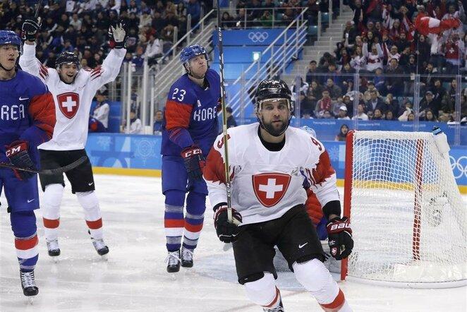 Šveicarijos ir Pietų Korėjos rinktinių rungtynės | Scanpix nuotr.
