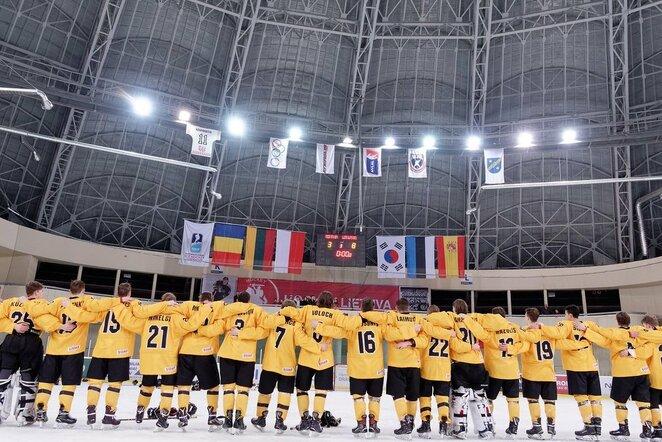 Lietuvos rinktinės apdovanojimai pasaulio IIA divizono čempionate Elektrėnuose   Sportas.lt/Tito Pacausko nuotr.