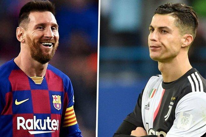 "Lionelis Messi ir Cristiano Ronaldo | ""Twitter"" nuotr."
