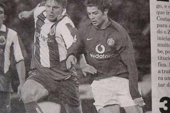 E.Jankauskas kovoja su C.Ronaldo | asmeninio archyvo nuotr.