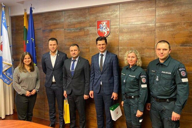 Lietuvos futbolo federacijos vadovai susitiko su policijos generaliniu komisaru | lff.lt nuotr.