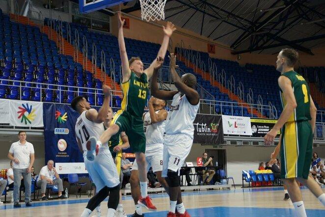 Lietuviai pasaulio kurčiųjų krepšinio čempionate   Organizatorių nuotr.