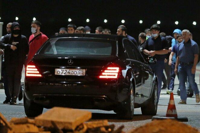 Abdulmanapo Nurmagomedovo kūno pargabenimas | Scanpix nuotr.