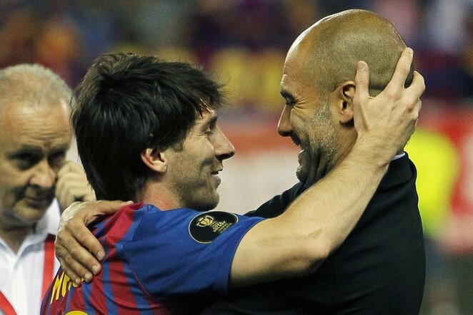 Lionelis Messi ir Pepas Guardiola | Scanpix nuotr.