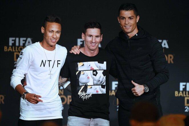 Neymaras, L.Messi ir C.Ronaldo   Scanpix nuotr.